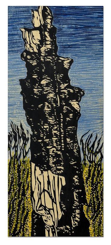 East Rim Burn I, yellow cedar